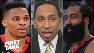 Russell Westbrook doesn't want to play with James Harden anymore - Stephen A.   First Take