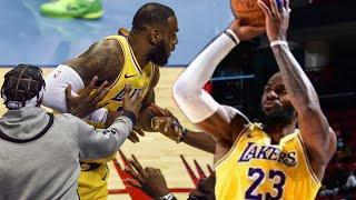 LeBron James Trolls Rockets By Mocking Steph Curry & Shooting No Look 3 Pointer
