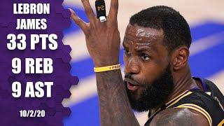 LeBron James goes for 33-9-9 for Lakers vs. Heat [GAME 2 HIGHLIGHTS] | 2020 NBA Finals