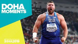 Joe Kovacs Wins Incredible Shot Put Gold | World Athletics Championships 2019 | Doha Moments