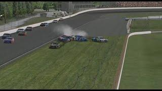 Several cars involved in early crash in Coca-Cola Series at Indy | iRacing