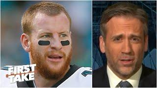 Will Carson Wentz ever be a quality starter again? Max says 'NO!'   First Take