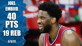 Joel Embiid goes for 40 points & 19 rebounds in win vs. Jazz [HIGHLIGHTS] | NBA on ESPN