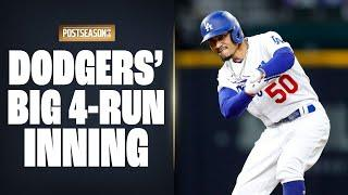 Dodgers' BIG 4-run 6th inning started by Mookie Betts propels them past Padres in NLDS Game 1