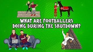 What are footballers doing during the shutdown? ft. Messi, Ronaldo & more!  Onefootball x 442oons
