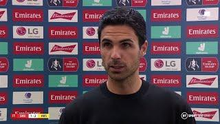 """""""We will get it right. We just need a little time."""" Mikel Arteta reacts as Arsenal reach FA Cup semi"""
