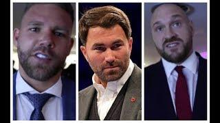 'EDDIE HEARN HAS NEVER HAD FIGHT IN HIS LIFE. COULDNT BEAT ANYBODY' -TYSON FURY & BILLY JOE SAUNDERS