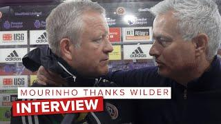 José Mourinho congratulates Chris Wilder | Post Sheffield United vs Spurs