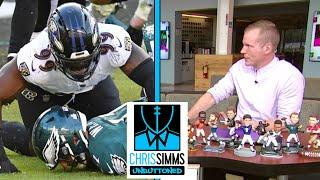 Chris Simms & Ahmed Fareed look at pictures from Ravens-Eagles | Chris Simms Unbuttoned | NBC Sports