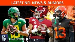 NFL Rumors On Tua Tagovailoa vs. Justin Herbert, Giants Draft + NFL Trade Rumors On OBJ & Josh Rosen