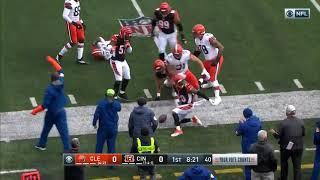 Odell Beckham Jr  Goes Down With Leg Injury After Baker Mayfield Throws INT