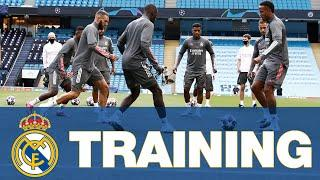 Real Madrid training session ahead of Manchester City!