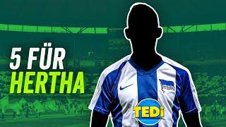 Hertha BSC: Meisterschaft 2025! 5 Transfers für den Big City Club!