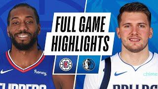 CLIPPERS at MAVERICKS   FULL GAME HIGHLIGHTS   March 15, 2021