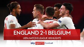 England top group with huge win!  | England 2-1 Belgium | Nations League Highlights