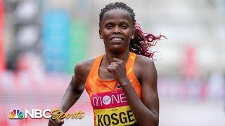 Brigid Kosgei crushes 2020 London Marathon; USA's Sara Hall sprints to 2nd place | NBC Sports