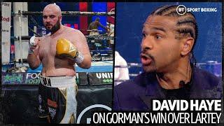 David Haye's brutally honest reaction to Nathan Gorman's weight and performance against Lartey