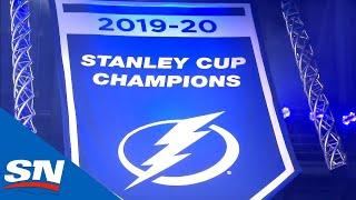 Lightning Raise Stanley Cup Banner With Fans In Stands