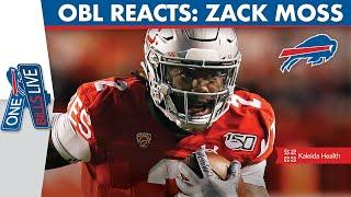 One Bills Live Reacts to 3rd Round Pick Zack Moss