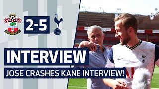 INTERVIEW | JOSE MOURINHO CRASHES HARRY KANE INTERVIEW TO PRAISE 'MAN OF THE MATCH'!