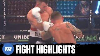 Traynor waves off Carl Frampton after nasty body shot, Frampton gets TKO win | FIGHT HIGHLIGHTS