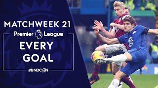 Every Premier League goal from Matchweek 21 (2020-2021) | NBC Sports