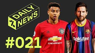Messi to STAY at Barcelona + Lingard's Champions League decider for Man United!  Daily News