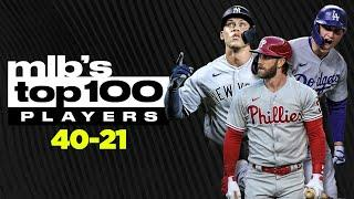 MLB's Top 100 Players Countdown (40-21) | (Aaron Judge, Bryce Harper, Corey Seager, etc.)