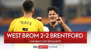 Brentford come from behind to win on penalties! | West Brom 2-2 Brentford | Carabao Cup Highlights