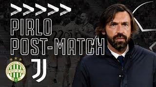 PIRLO POST-MATCH | Ferencváros 1-4 Juventus | Champions League