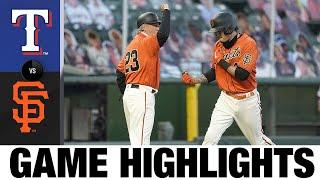 Giants score 9 runs in win against the Rangers | Giants-Rangers Game Highlights 7/31/20