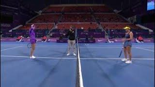 P. Kvitova vs. J. Pegula | 2021 Doha Semifinals | WTA Match Highlights