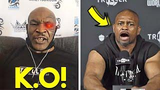 "*OMG* MIKE TYSON SENDS FINAL K.O WARNING TO ""HEATED"" ROY JONES JR DURING PRESS ""I HOPE YOU ARE READY"
