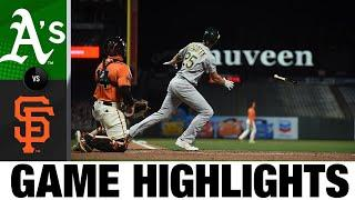 Grand slam leads A's comeback win | A's-Giants Game Highlights 8/14/20