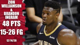 Zion Willamson, Brandon Ingram put on a show in Pelicans opener | 2020 NBA Preseason Highlights