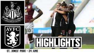 GAYLE ON TARGET BUT UNITED HELD TO A POINT | Newcastle United 1 Aston Villa 1: Brief Highlights