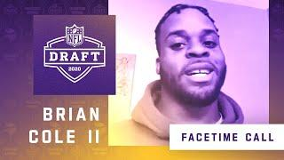 FaceTime Call With Minnesota Vikings Seventh Round NFL Draft Pick Brian Cole II