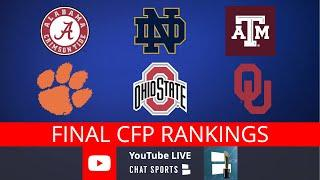 College Football Playoff Rankings LIVE – Final Top 25 Teams And New Year's 6 Bowl Game Matchups