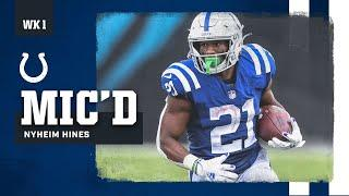 """""""Focus, Relax""""   Nyheim Hines Mic'd Up Against the Jaguars"""