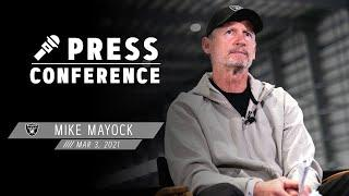 Mike Mayock on Approach To Free Agency, 2021 Draft, Derek Carr & Nelson Agholor | Las Vegas Raiders