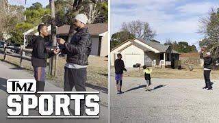 Amari Cooper Makes Kid's Day With Impromptu Game Of Catch, 'Go Get Mom!' | TMZ Sports