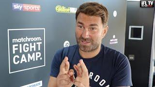 EDDIE HEARN REACTS TO FRANK WARREN SAYING 'FURY WILL NOT FIGHT WHYTE' / CAMPBELL v GARCIA DONE DEAL?