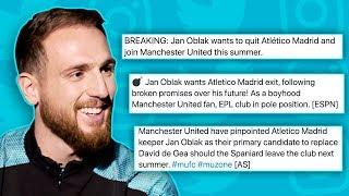 JAN OBLAK REACTS TO MANCHESTER UNITED TRANSFER RUMOURS! | #Unfiltered