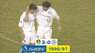 Ian Rush at the double! | Leeds United 3-0 Leicester City | Premier League Classic | 1996/97