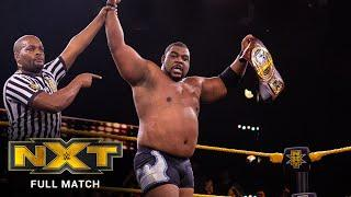 FULL MATCH - Roderick Strong vs. Keith Lee – NXT North American Title Match: WWE NXT, Jan. 22, 2020