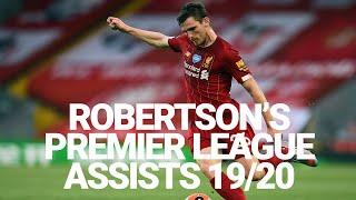 Every Andy Robertson assist in the Premier League 2019/20
