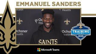 Emmanuel Sanders Impressed w/ Drew Brees & Michael Thomas | Saints Training Camp 2020