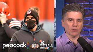 Kevin Stefanski never sat down during playoff game vs. Steelers | Pro Football Talk | NBC Sports
