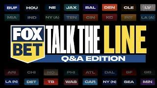 FOX Bet Talk the Line: Q&A Edition – Week 9 in Pro Football