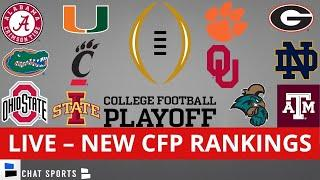 College Football Playoff Rankings Top 25 LIVE